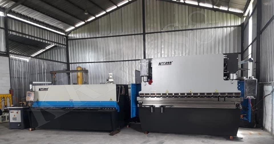 Hydraulic shearing machine and Hydraulic press brake